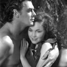 JOHNNY WEISSMULLER & MAUREEN O'SULLIVAN IN 'TARZAN ESCAPES' - 8X10 PUBLICITY PHOTO (AB-130)