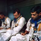 APOLLO 1 CREW: GUS GRISSOM, ED WHITE AND ROGER CHAFFEE 8X10 NASA PHOTO (BB-481)