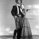JOHN WAYNE & MAUREEN O'HARA IN 'RIO GRANDE' - 8X10 RARE PUBLICITY PHOTO (ZY-039)
