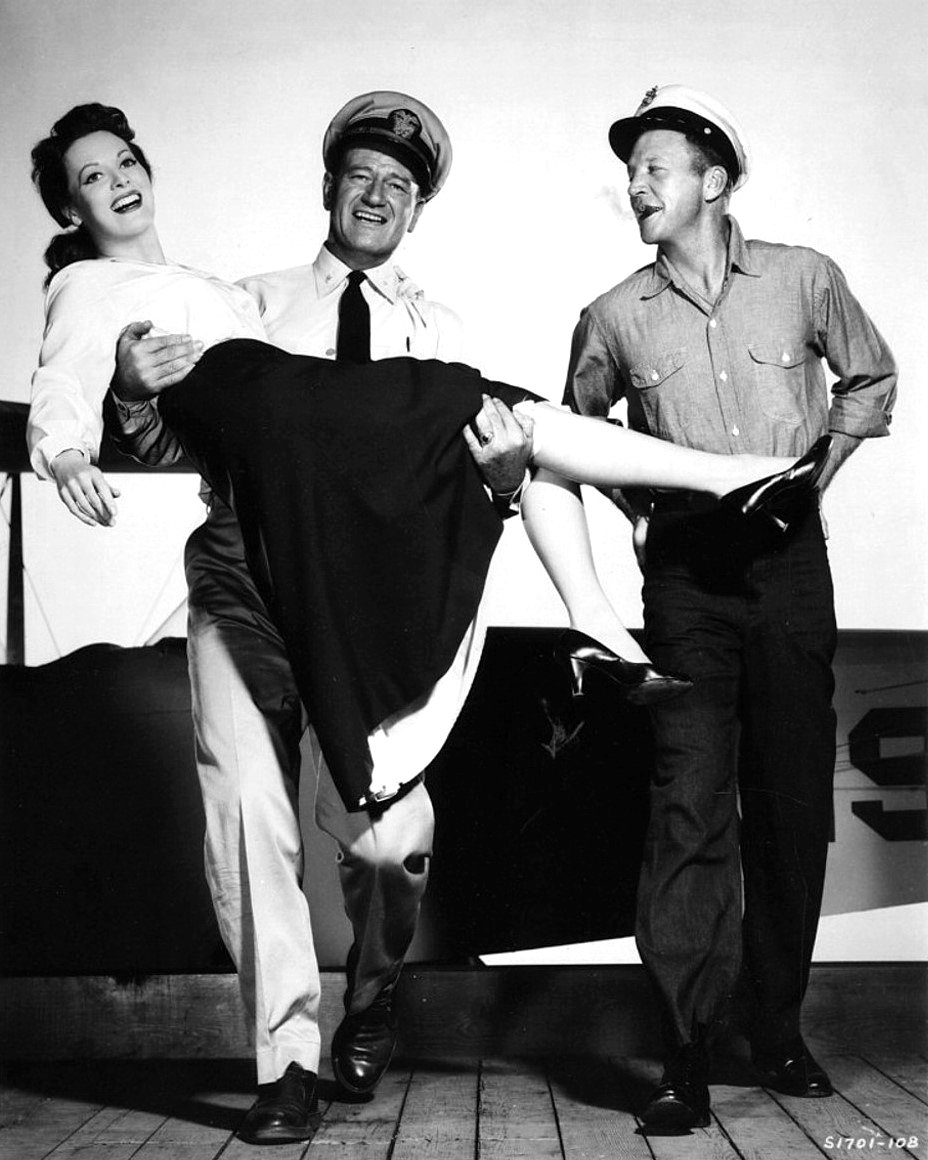 JOHN WAYNE MAUREEN O'HARA DAN DAILEY 'THE WINGS OF EAGLES' - 8X10 PHOTO (ZY-073)