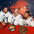 PORTRAIT OF *ORIGINAL* APOLLO 13 CREW WITH MATTINGLY - 8X10 NASA PHOTO (BB-868)