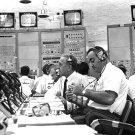 ROCCO PETRONE AND DR. KURT DEBUS DURING APOLLO 7 LAUNCH 8X10 NASA PHOTO (BB-871)