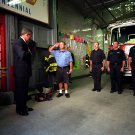 PRESIDENT GEORGE W BUSH VISITS ENGINE CO 55 IN NEW YORK CITY 8X10 PHOTO (BB-874)