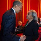 BARACK OBAMA w/ RACHEL ROBINSON AT '42' SCREENING JACKIE - 8X10 PHOTO (CC-022)