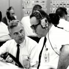 ROCCO PETRONE & WALTER KAPRYAN DURING APOLLO 7 TEST - 8X10 NASA PHOTO (BB-902)
