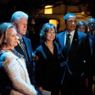 BARACK OBAMA AT MEMORIAL SERVICE WITH BILL & HILLARY CLINTON 8X10 PHOTO (BB-925)