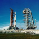 APOLLO 11 SATURN V AT LAUNCH COMPLEX 39 JULY 1, 1970 - 8X10 NASA PHOTO (BB-794)