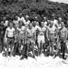 MERCURY 7 ASTRONAUTS w/ US NAVY SEALS DURING TRAINING - 8X10 NASA PHOTO (BB-936)