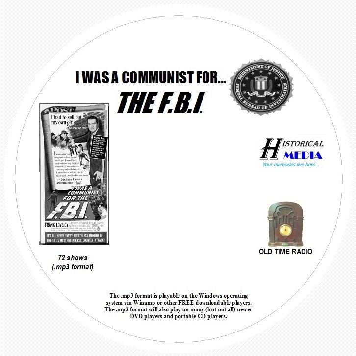 I WAS A COMMUNIST FOR THE FBI - 72 Shows Old Time Radio In MP3 Format OTR 1 CD