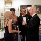 PRESIDENT BARACK OBAMA & MICHELLE w/ JOE & JILL BIDEN 2013 - 8X10 PHOTO (CC-090)