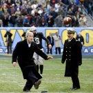 GEORGE W. BUSH KICKS FOOTBALL AT THE 2008 ARMY-NAVY GAME - 8X10 PHOTO (BB-953)