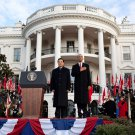 PRESIDENT BARACK OBAMA WITH CHINESE LEADER HU JINTAO - 8X10 PHOTO (DD-002)