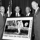APOLLO 11 ASTRONAUTS w/ POSTMASTER FOR STAMP UNVEILING 8X10 NASA PHOTO (DD-020)