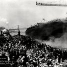 LAUNCH OF THE USS ARIZONA ON JUNE 19, 1915 - 8X10 PHOTO (EE-097)