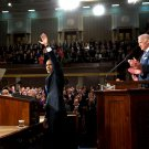PRESIDENT BARACK OBAMA PREPARES TO GIVE STATE OF THE UNION - 8X10 PHOTO (NN-125)