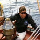 PRESIDENT JOHN F. KENNEDY SAILS ABOARD THE MAINITOU - 8X10 PHOTO (AA-884)