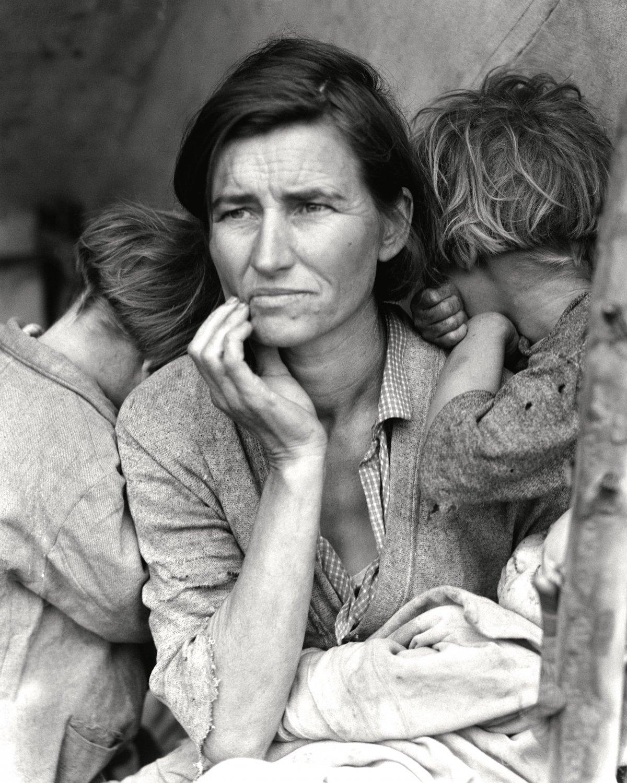 MIGRANT MOTHER (1936) DOROTHEA LANGE PHOTOGRAPHER - 8X10 PHOTO (DD-111)