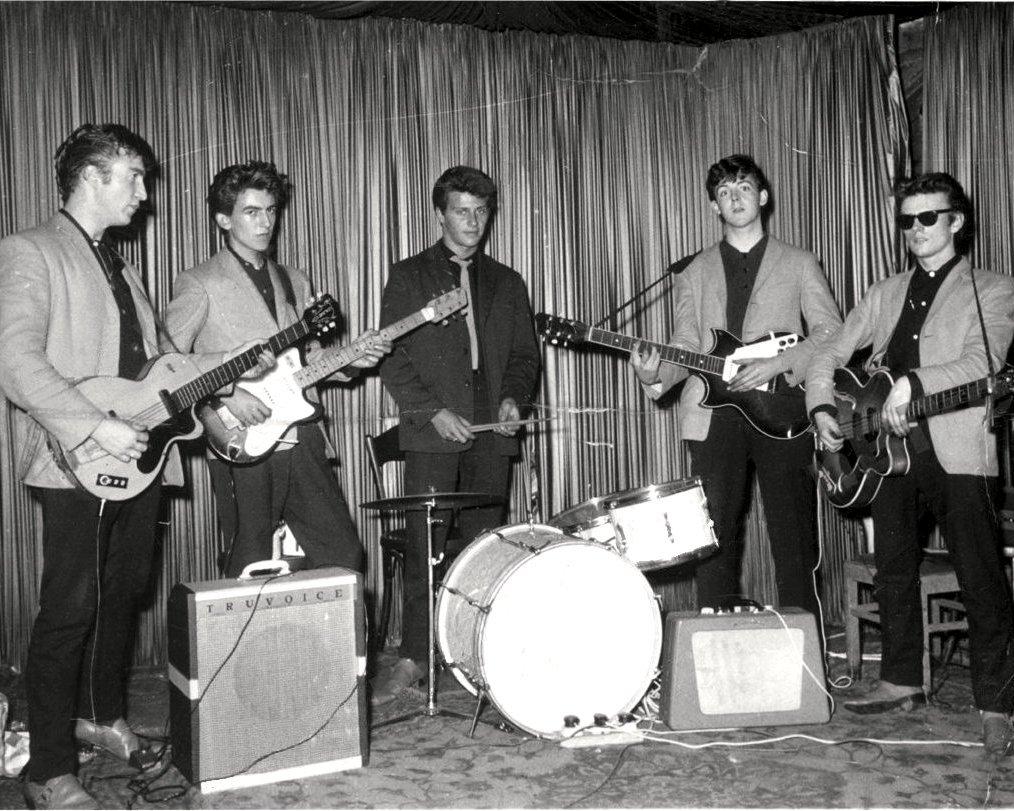 """SILVER"" BEATLES @ INDRA CLUB IN HAMBURG 1960 - 8X10 PUBLICITY PHOTO (CC-112)"
