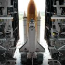 SPACE SHUTTLE DISCOVERY LEAVES VAB FOR LAUNCH PAD 39B - 8X10 NASA PHOTO (DA-720)