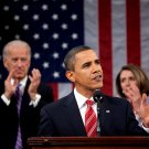 PRESIDENT BARACK OBAMA DELIVERS 2010 STATE OF THE UNION - 8X10 PHOTO (EE-032)