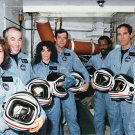 SHUTTLE CHALLENGER STS-51L CREW AFTER COUNTDOWN DEMO TEST - 8X10 PHOTO (EP-458)