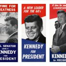 JOHN F. KENNEDY PRESIDENTIAL CAMPAIGN POSTERS 3 ON 1 PRINT - 8X10 PHOTO (ZY-221)
