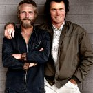 PAUL NEWMAN AND CLINT EASTWOOD IN 1972 - 8X10 PUBLICITY PHOTO (OP-006)