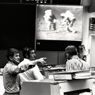 ASTRONAUTS JOE ALLEN & DICK GORDON WITH DEKE SLAYTON - 8X10 NASA PHOTO (EE-075)