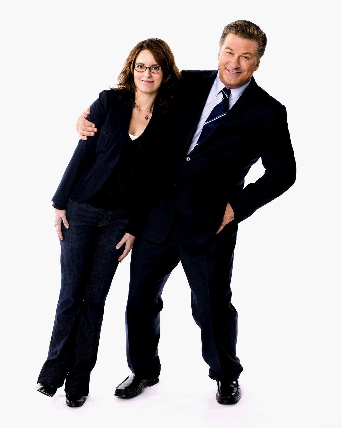 TINA FEY AND ALEC BALDWIN IN '30 ROCK' - 8X10 PUBLICITY PHOTO (OP-011)