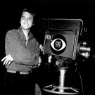 ELVIS PRESLEY NEXT TO TV CAMERA IN CBS STUDIO - 8X10 PUBLICITY PHOTO (EP-272)