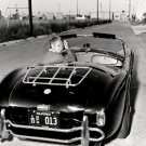 LEGENDARY ACTOR STEVE McQUEEN IN SHELBY COBRA 289 ROADSTER - 8X10 PHOTO (ZZ-363)