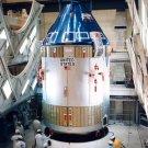APOLLO 7 COMMAND & SERVICE MODULES BEING MATED TO SLMA 8X10 NASA PHOTO (BB-091)