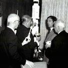DR. WERNHER VON BRAUN WITH OTHER NASA OFFICIALS - 8X10 PHOTO (DA-240)