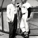 BASEBALL HALL OF FAMERS TY COBB AND TED WILLIAMS - 8X10 PHOTO (ZZ-589)