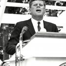 PRESIDENT JOHN F. KENNEDY SPEAKS AT DEDICATION - 8X10 PHOTO (AA-845)