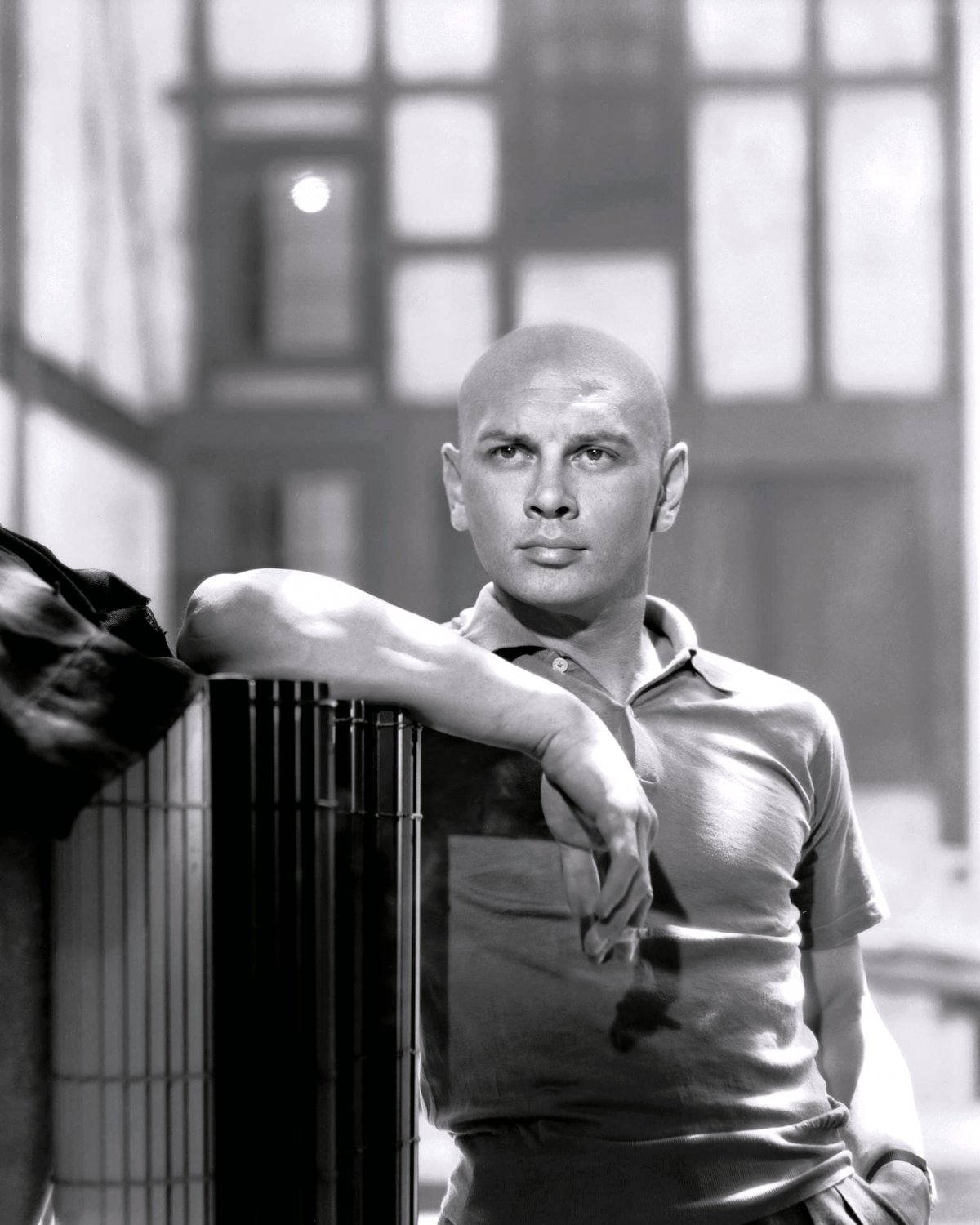 YUL BRYNNER LEGENDARY ACTOR - 8X10 PUBLICITY PHOTO (OP-040)