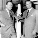 VON BRAUN MEETS WITH WALT DISNEY AT REDSTONE ARSENAL 1954 - 8X10 PHOTO (EP-001)