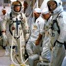 ASTRONAUTS DAVE SCOTT & NEIL ARMSTRONG ENTER GEMINI 8 - 8X10 NASA PHOTO (AA-305)
