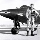 TEST PILOT CAPT JOE ENGLE NEXT TO THE X-15-2 AIRCRAFT - 8X10 NASA PHOTO (AA-308)