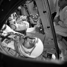GEMINI 3 ASTRONAUTS GUS GRISSOM & JOHN YOUNG STRAPPED IN - 8X10 PHOTO (AA-320)