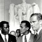 SIDNEY POITIER HARRY BELAFONTE CHARLTON HESTON CIVIL RIGHTS 8X10 PHOTO (AA-064)