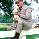 "PRESIDENT LYNDON B. JOHNSON WITH HIS DOG ""YUKI"" IN 1967 - 8X10 PHOTO (BB-119)"