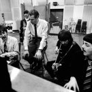 THE BEATLES IN STUDIO WITH PRODUCER GEORGE MARTIN - 8X10 PHOTO (ZZ-027)