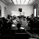 PRESIDENT JOHN F. KENNEDY MEETS WITH CABINET MAY 25, 1961 - 8X10 PHOTO (AA-328)