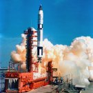 LIFT-OFF OF GEMINI 5 SPACECRAFT IN AUGUST 1965 - 8X10 NASA PHOTO (AA-329)