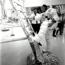 NEIL ARMSTRONG APOLLO 11 ASTRONAUT PRACTICES CLIMBING LADDER 8X10 PHOTO (EP-154)