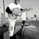 WILLIE MAYS w/ COWBOY HAT & GUITAR DURING SPRING TRAINING - 8X10 PHOTO (DD-031)
