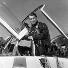 DR. WERNHER VON BRAUN AFTER SUPERSONIC FLIGHT IN T-38 - NASA 8X10 PHOTO (EP-060)