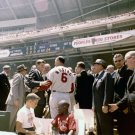 "JOHN F. KENNEDY GREETS STAN ""THE MAN"" MUSIAL @ ALL-STAR GAME 8X10 PHOTO (NN-177)"