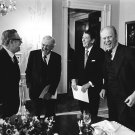GERALD FORD w/NELSON ROCKEFELLER RONALD REAGAN JOHN CONNALLY 8X10 PHOTO (BB-603)